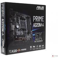 Сист. плата Asus PRIME A320M-A, A320, AM4, 4xDIMM DDR4, PCI-E x16, 2xPCI-E x1, 4xSATA, HDMI, VGA, DVI, uATX