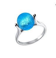 Кольцо с муранским стеклом / серебро 17 размер