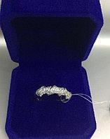 Кольцо с цирконом / серебро - 17 размер