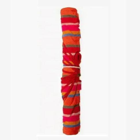 Гамак подвесной складной с деревянными планками одноместный 165х80 в красных оттенках - фото 7