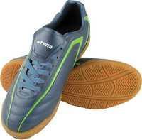Бутсы футбольные, серый/зеленый, синтетическая кожа, SD500 INDOOR (44)
