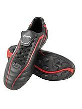 Бутсы футбольные, черн/красн, синтетическая кожа, SD500 MSR (42)