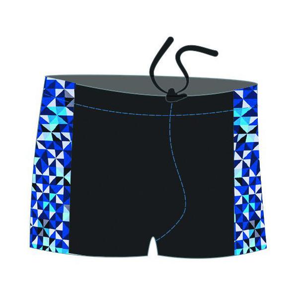 Плавки-шорты мужские для бассейна,с принт. вставками, SM8 19 (52)