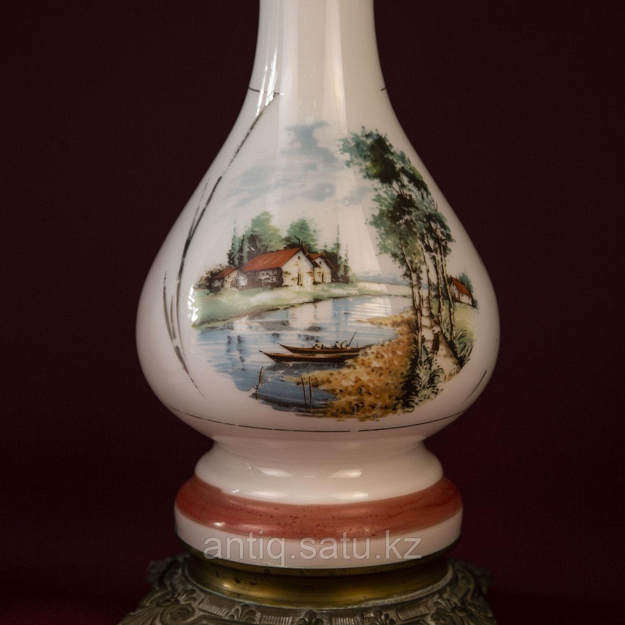 Парные керосиновые лампы с пейзажами Западная Европа. Конец XIX начало ХХ века - фото 6