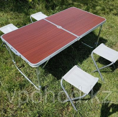 Стол складной для пикника со стульями (60х120 см)