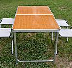 Стол складной для пикника со стульями (60х120 см), фото 2