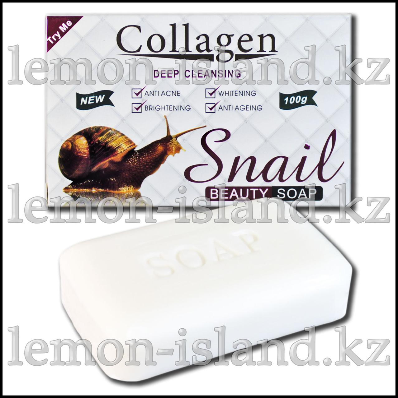 Мыло отбеливающее с коллагеном Collagen Deep Cleansing от Pei Mei.