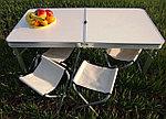 Стол складной для пикника со стульями (60х120 см), фото 3