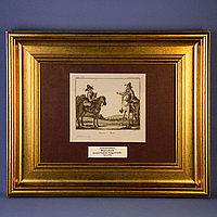 Старинная гравюра «КАЗАХСКИЕ ВСАДНИКИ». 18-й век. KIRGUIS a Scheval.