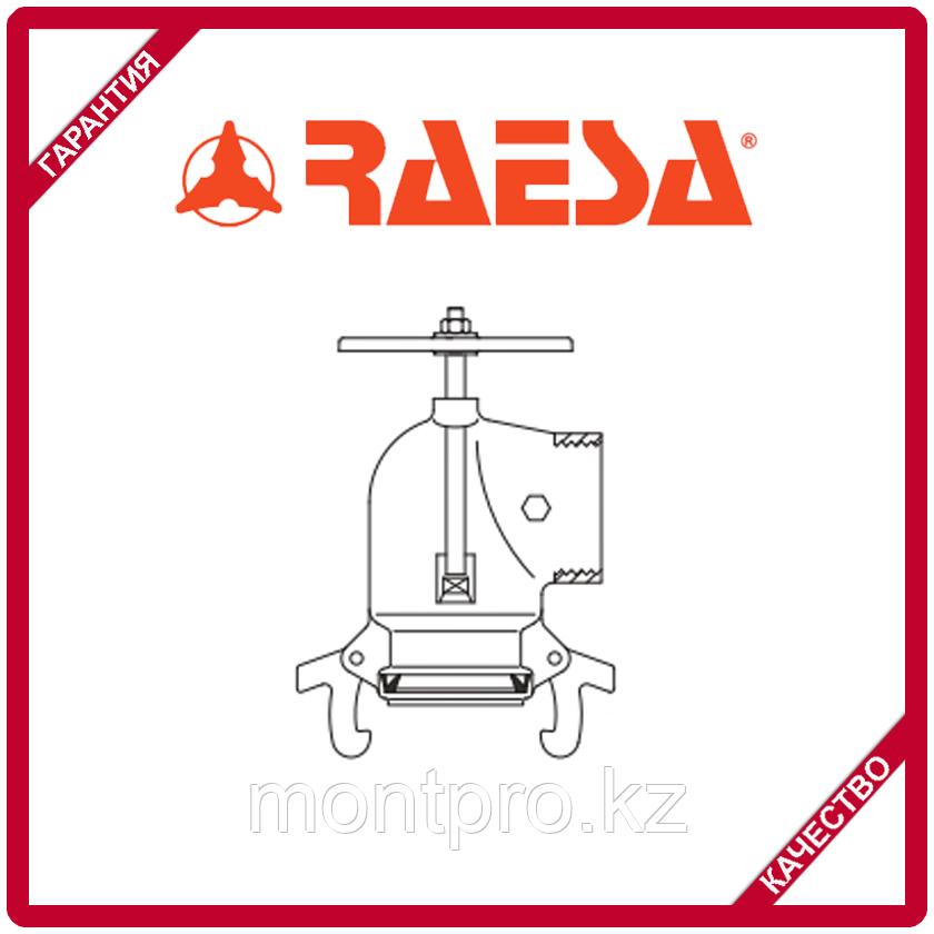 """Вентиль колено гидрант с отводом с гидравлическим соединением типа """"H"""" RAESA"""