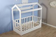 Подростковая кровать домик Wooden bed 5 Белая