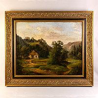 «Альпийский пейзаж» Автор: Julius Abbiati ХIХ век Австрия Холст, масло