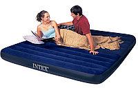 Надувной матрас 203х152см INTEX 64765 + 2 подушки + НАСОС Двухместный