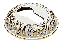Ключевая накладка MORELLI MH-KH-CLP W/PG, белый/золото