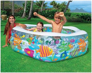 Надувной бассейн детский {191 x 178 x 61 см} INTEX 56493 Ocean Reef
