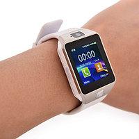 Умные часы DZ09 - Smart Watch DZ-09 - серебро, белый ремешок