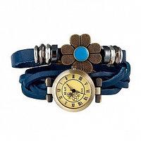 E-LY часы браслет с вставкой в виде цветка, синие