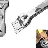 Скребок для стеклокерамических плит + 4 лезвия, сталь