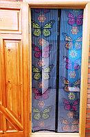 Москитная сетка для входной двери с бабочками - Magic Mesh Butterfly (Мэджик Мэш Батерфляй), 18 магнитов