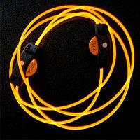 Шнурки с LED-подсветкой (цвет желтый)