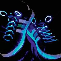 Шнурки с LED подсветкой (цвет синий)