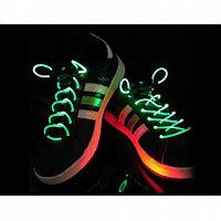 Шнурки с LED-подсветкой (цвет зеленый)