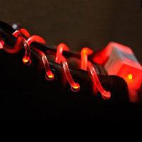 Шнурки с LED-подсветкой (цвет красный)