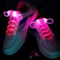 Шнурки с LED подсветкой (цвет розовый)