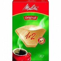 Фильтры бумажные для заваривания кофе Melitta коричневого цвета 1:2