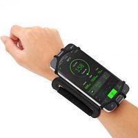 Браслет-переноска для телефона с поворотом на 180 градусов для бега, чёрный