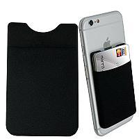Карман -кошелёк картхолдер на мобильный телефон, чёрный