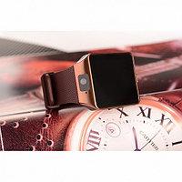 Умные часы DZ09 - Smart Watch DZ-09 - золото, коричневый ремешок