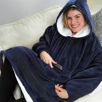 Толстовка-одеяло с капюшоном Huggle Hoodie, синий