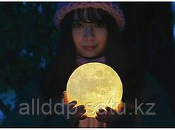 Шарообразный светильник ночник Луна 3D, шар 12 см