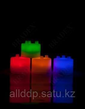 Лампа-ночник из цветных блоков - Семицветик - фото 3