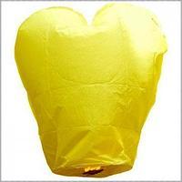 Небесный фонарик желаний Сердце, жёлтый