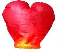 Небесный фонарик желаний Сердце, красный