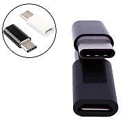 Переходник Type C папа - Micro USB мама, черный