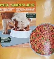 Противоскользящий коврик под миску Pet Supplies, 46х36 см, жёлтый