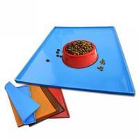 Противоскользящий коврик под миску Pet Supplies, 46х36 см, голубой