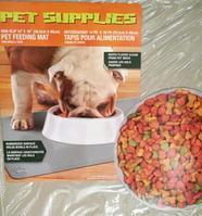 Противоскользящий коврик под миску Pet Supplies, 46х36 см, бежевый