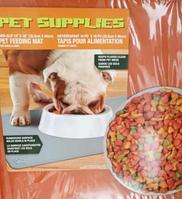 Противоскользящий коврик под миску Pet Supplies, 46х36 см, оранжевый