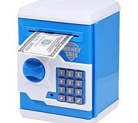 Копилка-сейф Money Safe, интерактивная, голубой