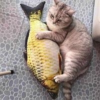 Мягкая игрушка-антистресс для кошек Карась, 30 см