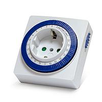 Розетка с таймером Smartbuy механическая, 3500 Вт, 96 вкл./выкл. сутки, интервал 15 мин.