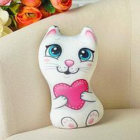 Мягкая игрушка-антистресс - Кошечка с сердечком