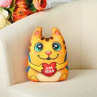 Мягкая игрушка-антистресс - Котик с сердечком