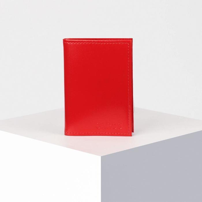 Визитница вертикальная, 18 листов, цвет красный
