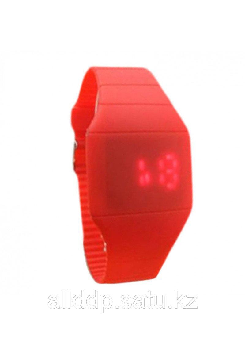 Ультратонкие силиконовые LED часы Nexer G1206, красные
