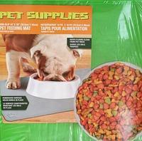 Противоскользящий коврик под миску Pet Supplies, 46х36 см, зелёный
